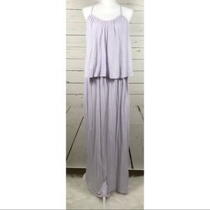 [Three dots] Light Purple cross back maxi dress
